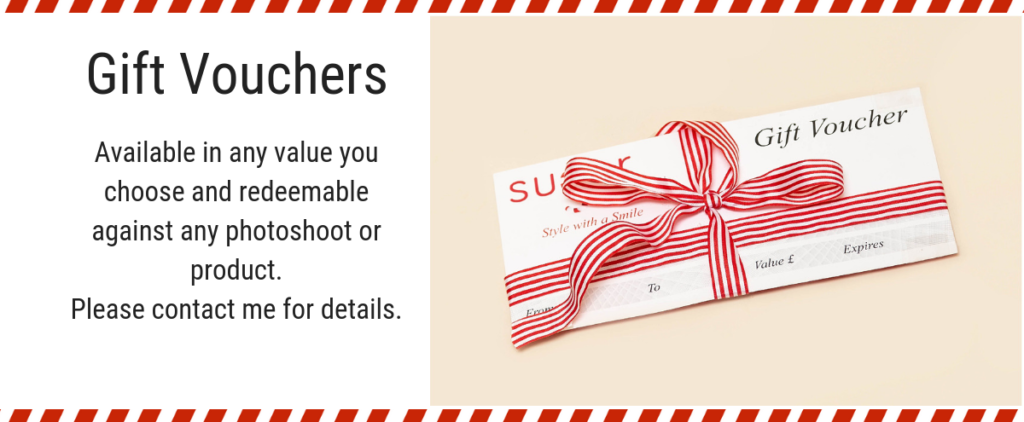 Gift vouchers are available from Sugar Photography by Sarah Hargreaves.